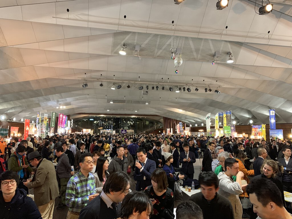The sea of attendees at the Japan Brewers Cup 2019
